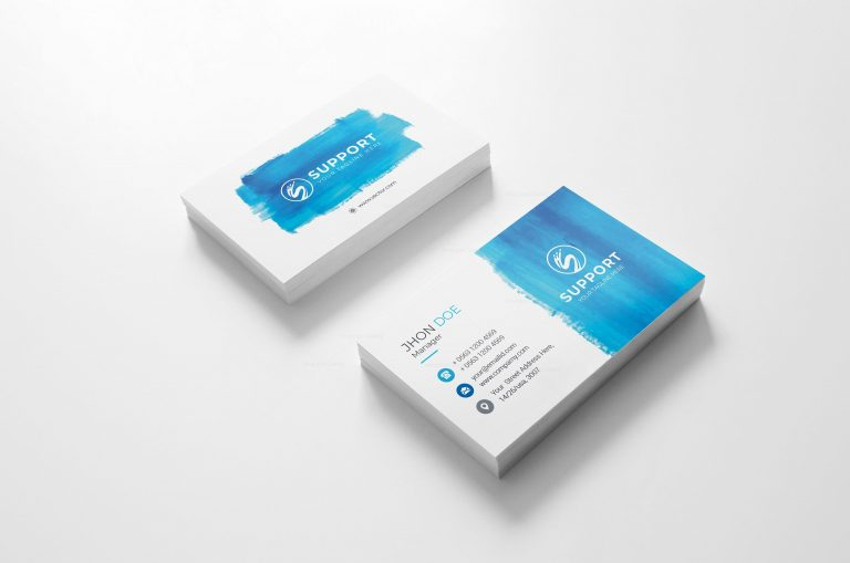 Serenity Creative Business Card Design 2