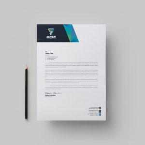 Seven Corporate Letterhead Design Template