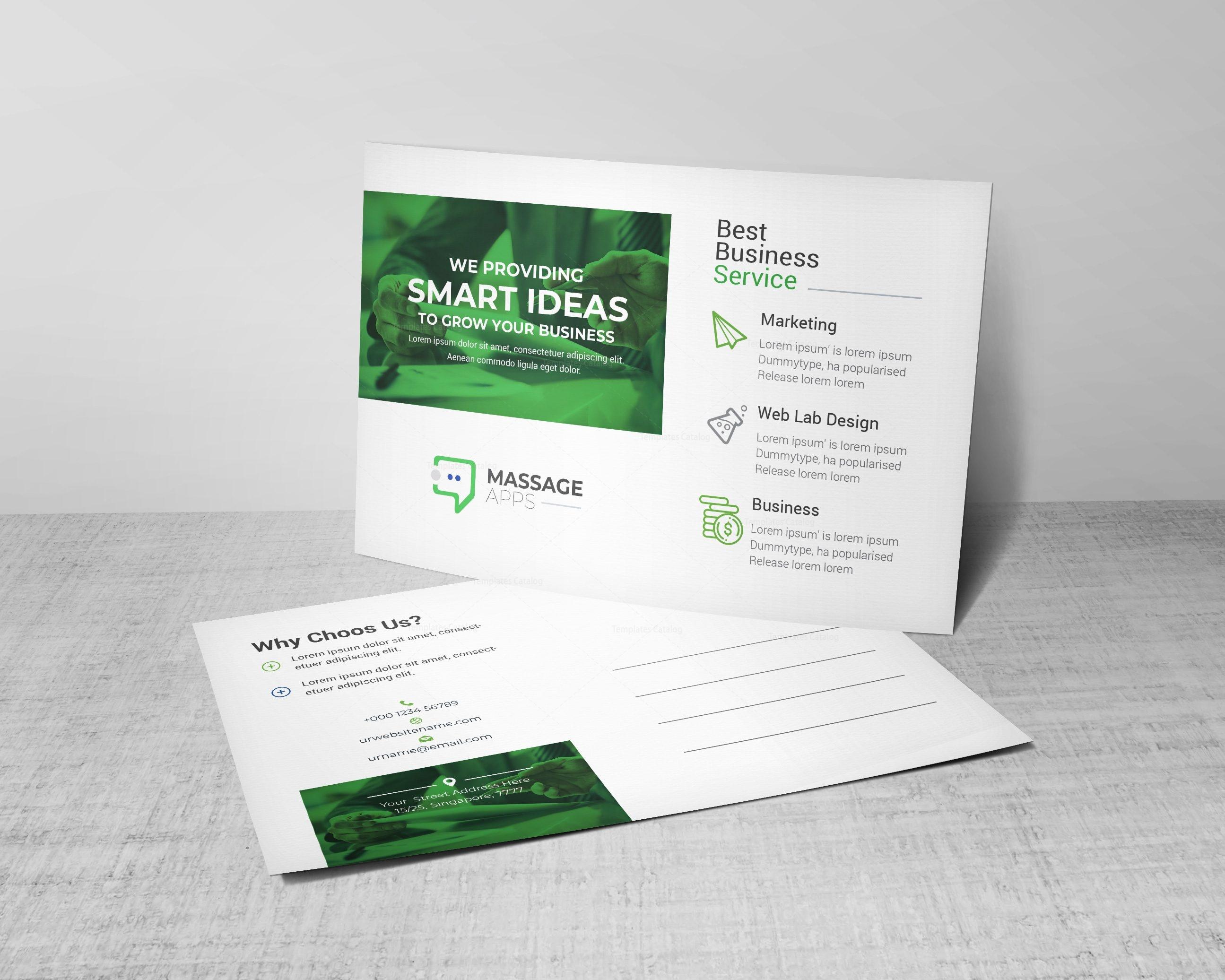 Smart corporate postcard design template 002190 template catalog smart corporate postcard design template maxwellsz