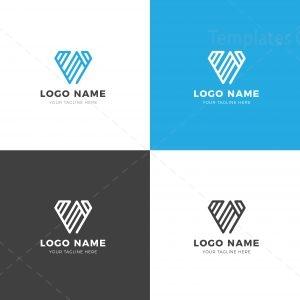 Stripe Professional Logo Design Template