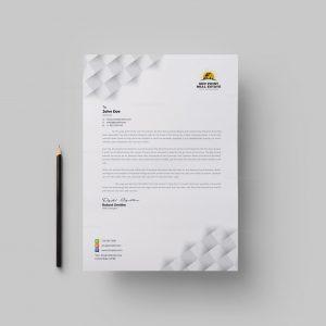 Sun Corporate Letterhead Design Template