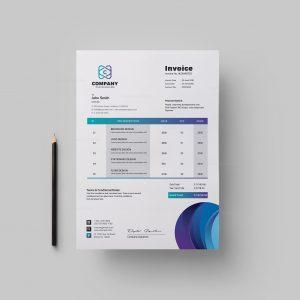 Top Corporate Invoice Design Template