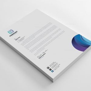 Top Corporate Letterhead Design Template