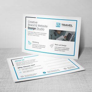 Travel Corporate Postcard Design Template
