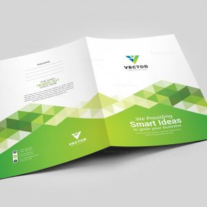 Vector Presentation Folder Design Template