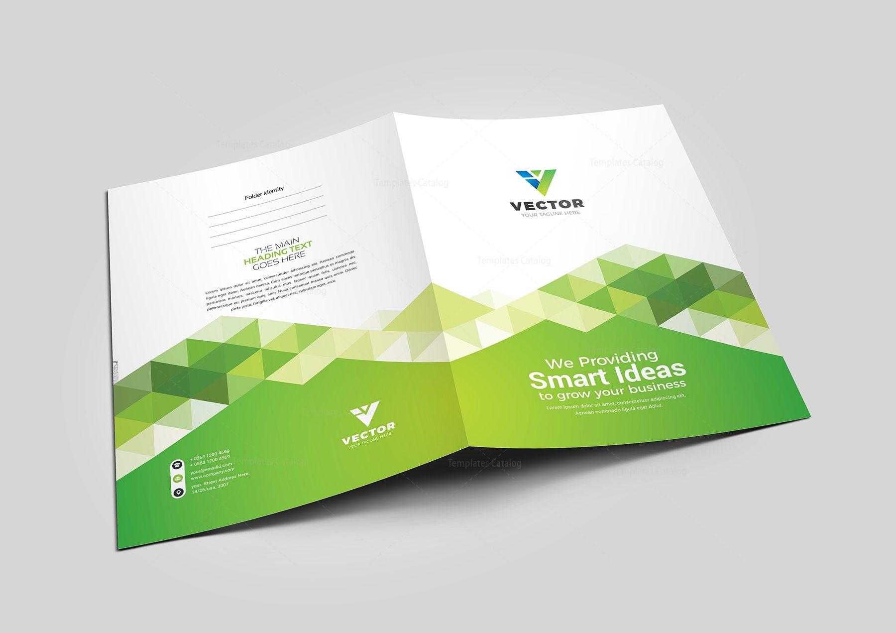 vector presentation folder design template 002173