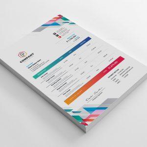 Vibrant Corporate Invoice Design Template