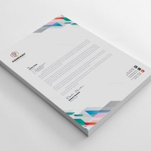 Vibrant Corporate Letterhead Design Template