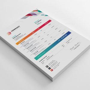 Vivid Corporate Invoice Design Template