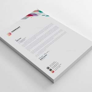 Vivid Corporate Letterhead Design Template
