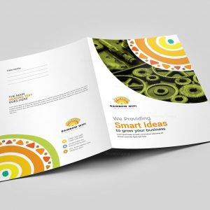 WiFi Presentation Folder Design Template