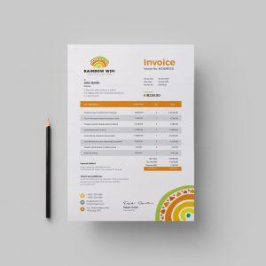 Wifi Corporate Invoice Design Template