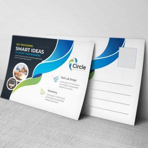 Circle Professional Postcard Design Template
