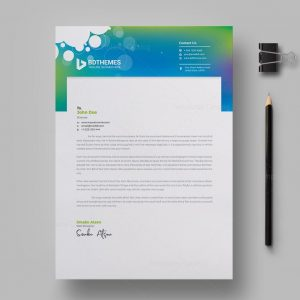 Commercial Letterhead Design Template