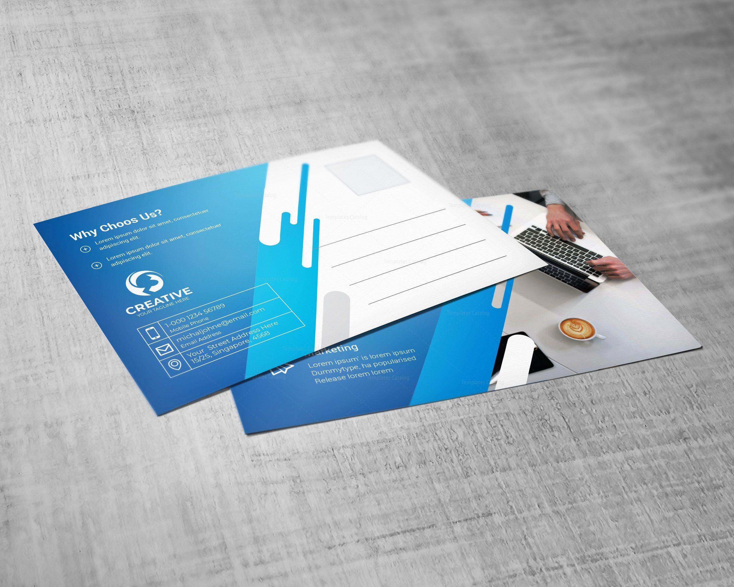 Creative Professional Postcard Design Template
