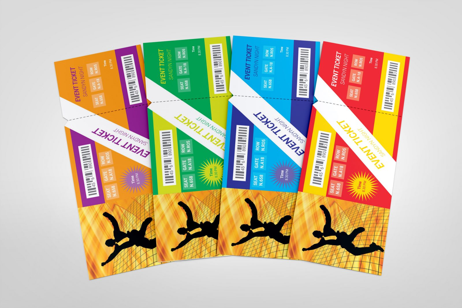 dance party event ticket template 002291