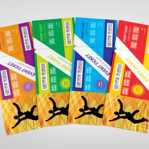 Dance Party Event Ticket Template
