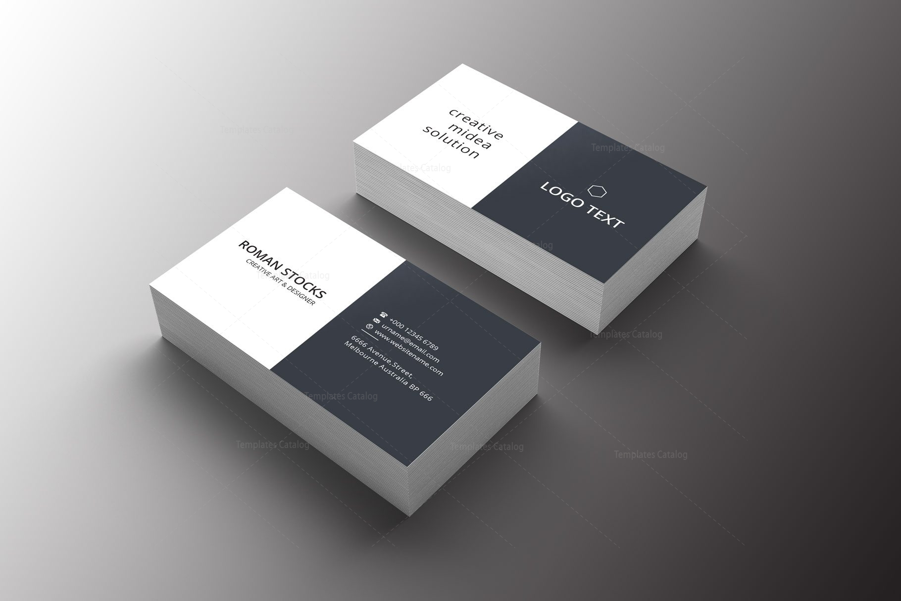 diamond professional business card design 002233