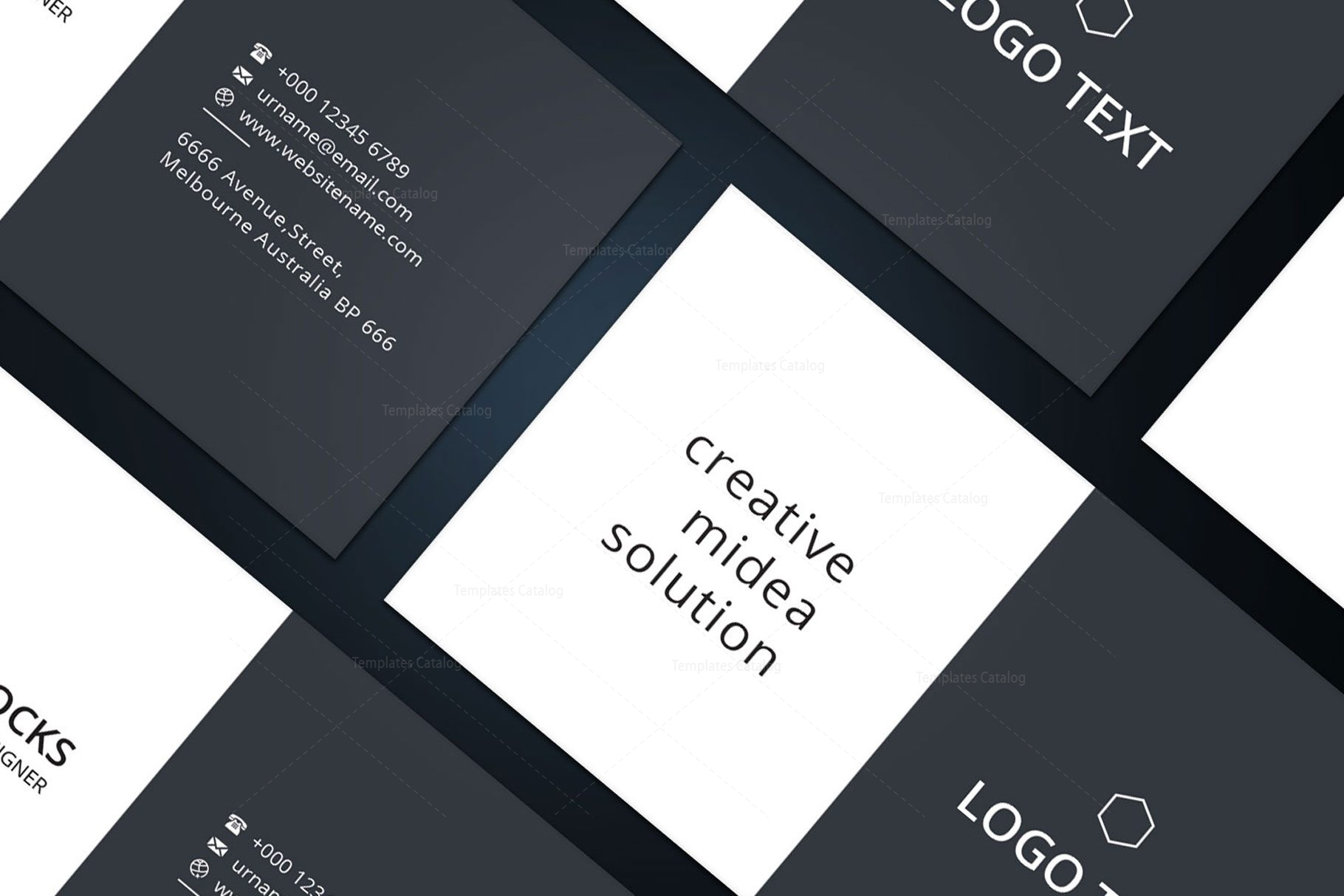 Diamond professional business card design 002233 template catalog diamond professional business card design 8 reheart Image collections