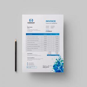 Dots Corporate Invoice Design Template