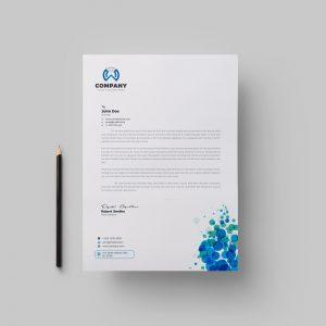 Dots Corporate Letterhead Design Template