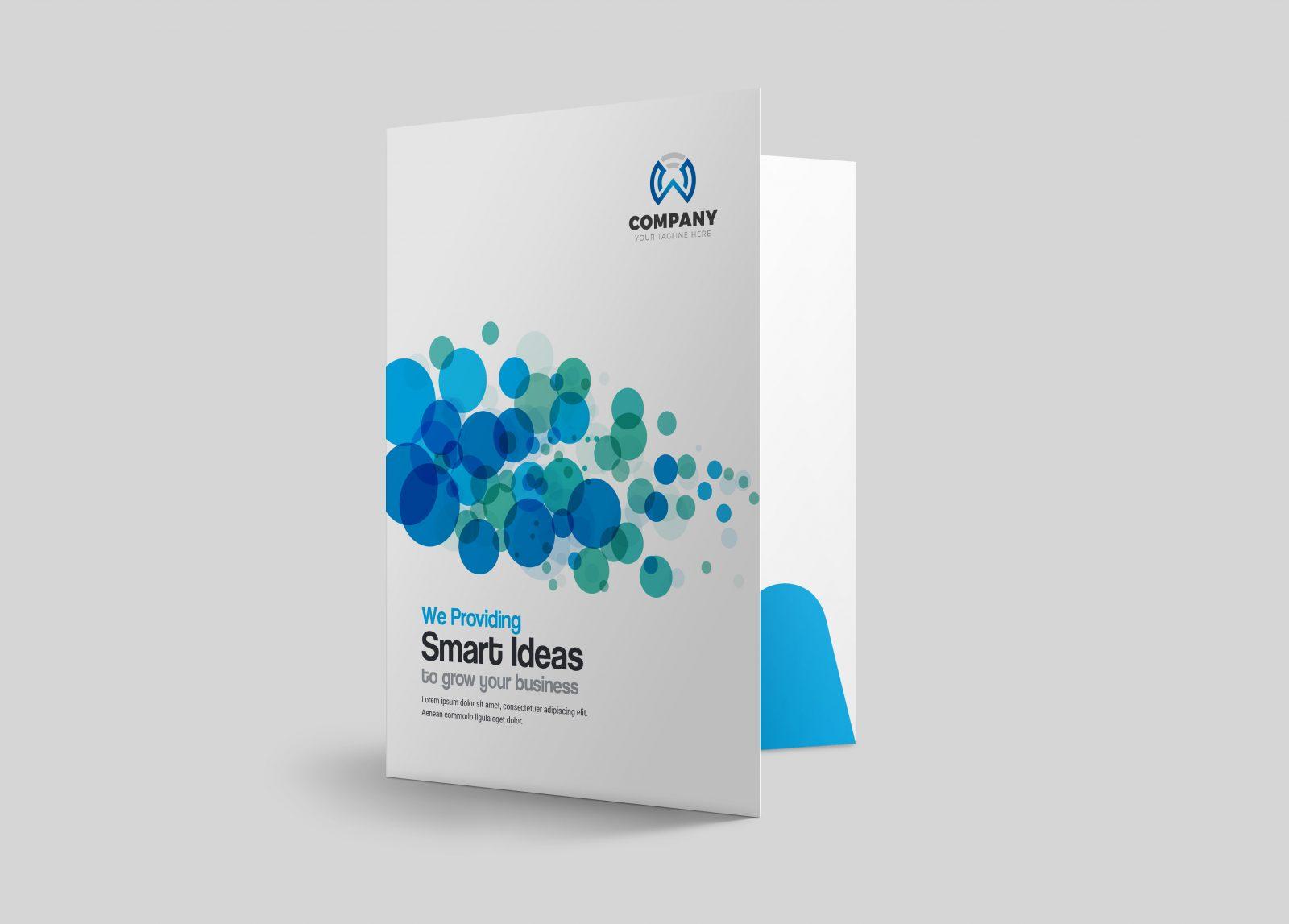 dots presentation folder design template 002205 template. Black Bedroom Furniture Sets. Home Design Ideas