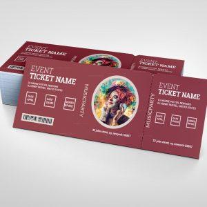 Drama Elegant Event Ticket Template