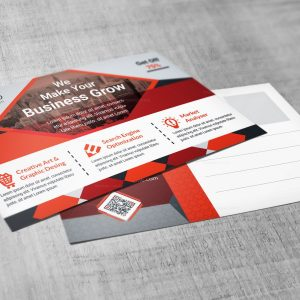 EPS Stylish Postcard Design Template