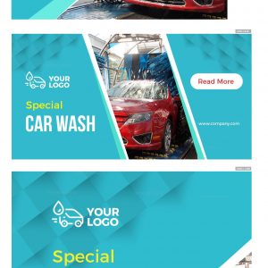 Elegant Car Wash Company Web Banner Set