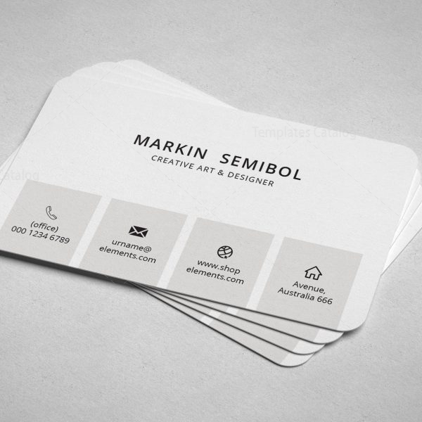 Lawyer Minimal Business Card Design 4