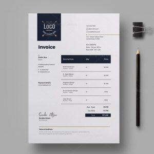 Luxury Corporate Invoice Design Template