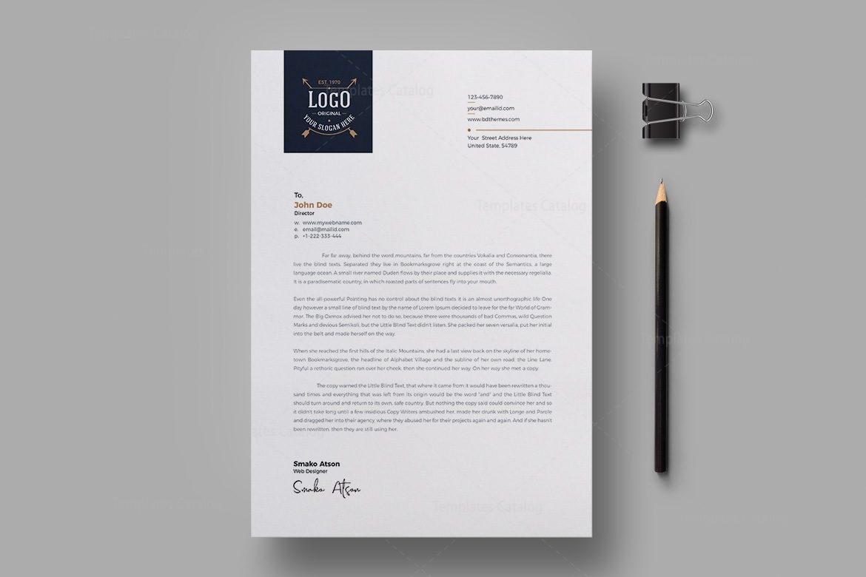 Luxury Letterhead Design Template 002301 Template Catalog