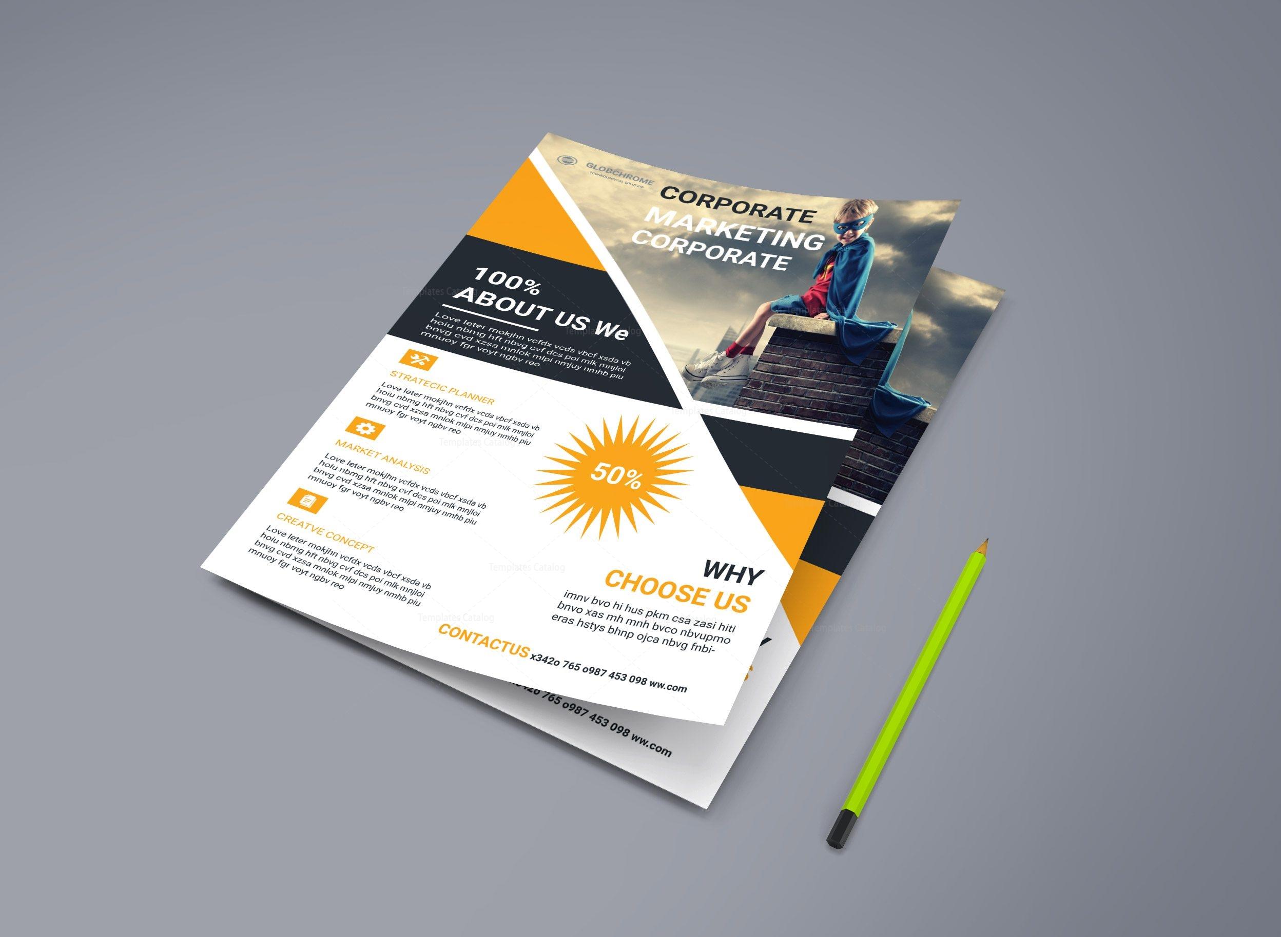 marketing corporate business flyer design 002219 template catalog