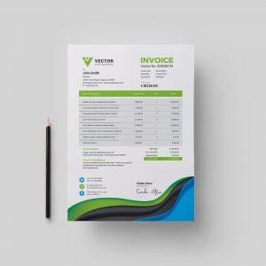 Medical Corporate Invoice Design Template