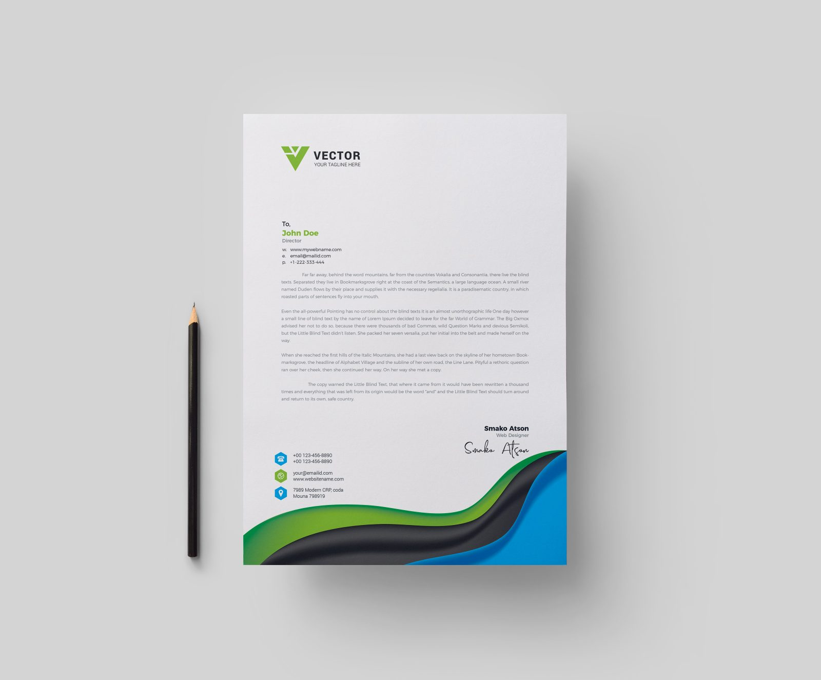 medical letterhead design template 002281