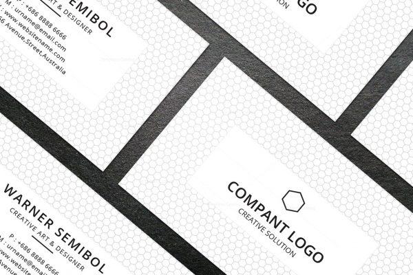 Minimal Consultant Business Card Design