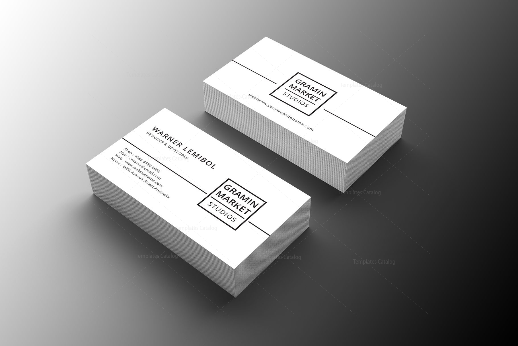 minimal manager business card design - Business Card Manager
