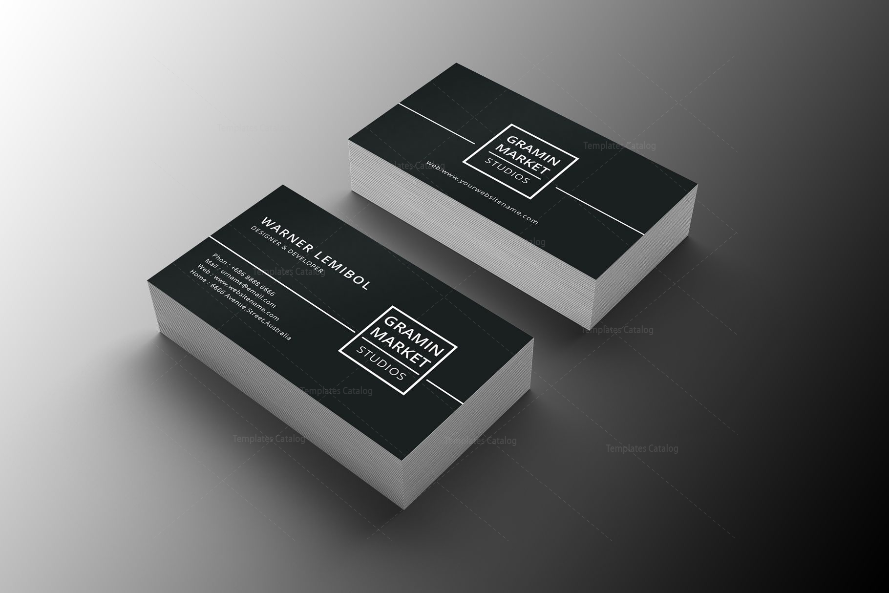Minimal manager business card design 002247 template catalog minimal manager business card design 2 colourmoves