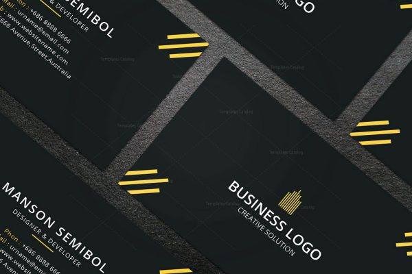 Minimal Mechanic Business Card Design