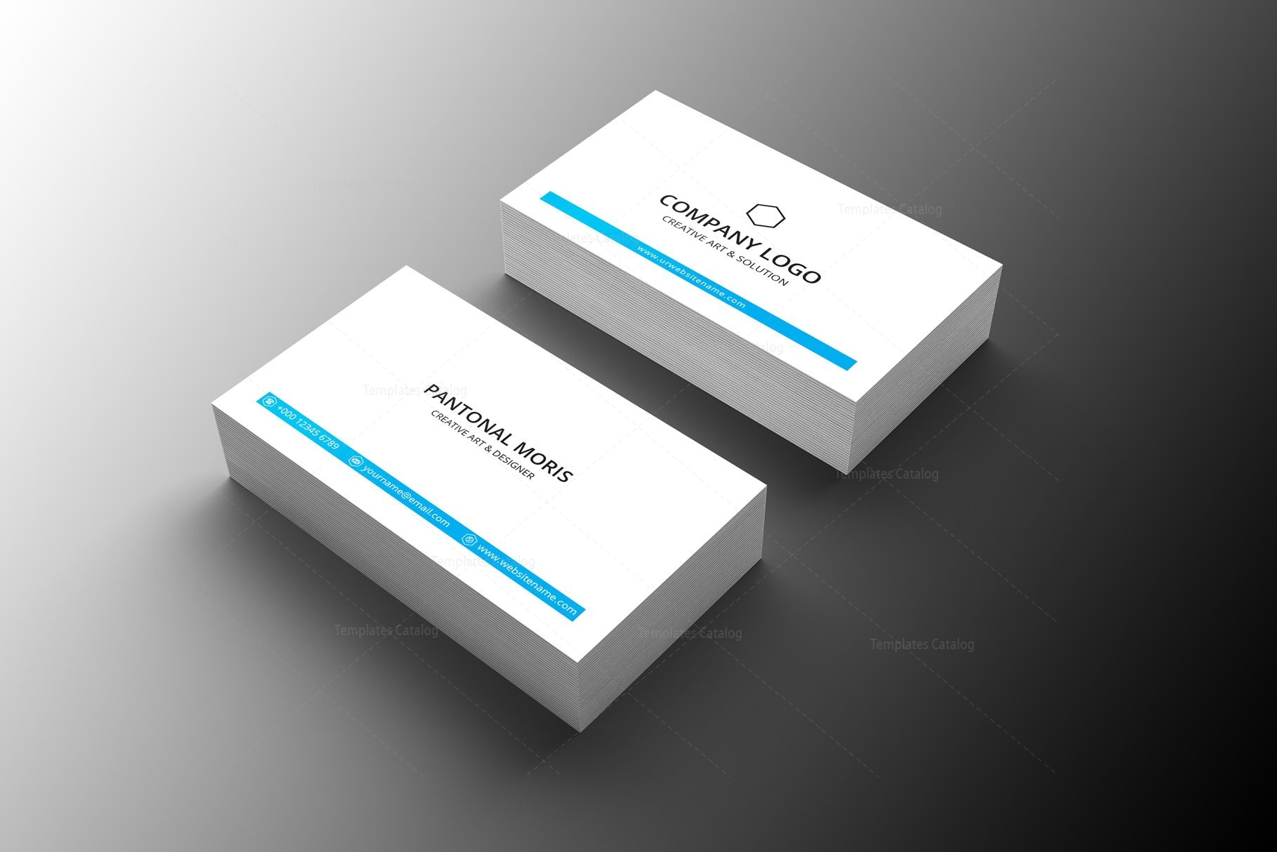 minimal medical business card design 002249 template catalog