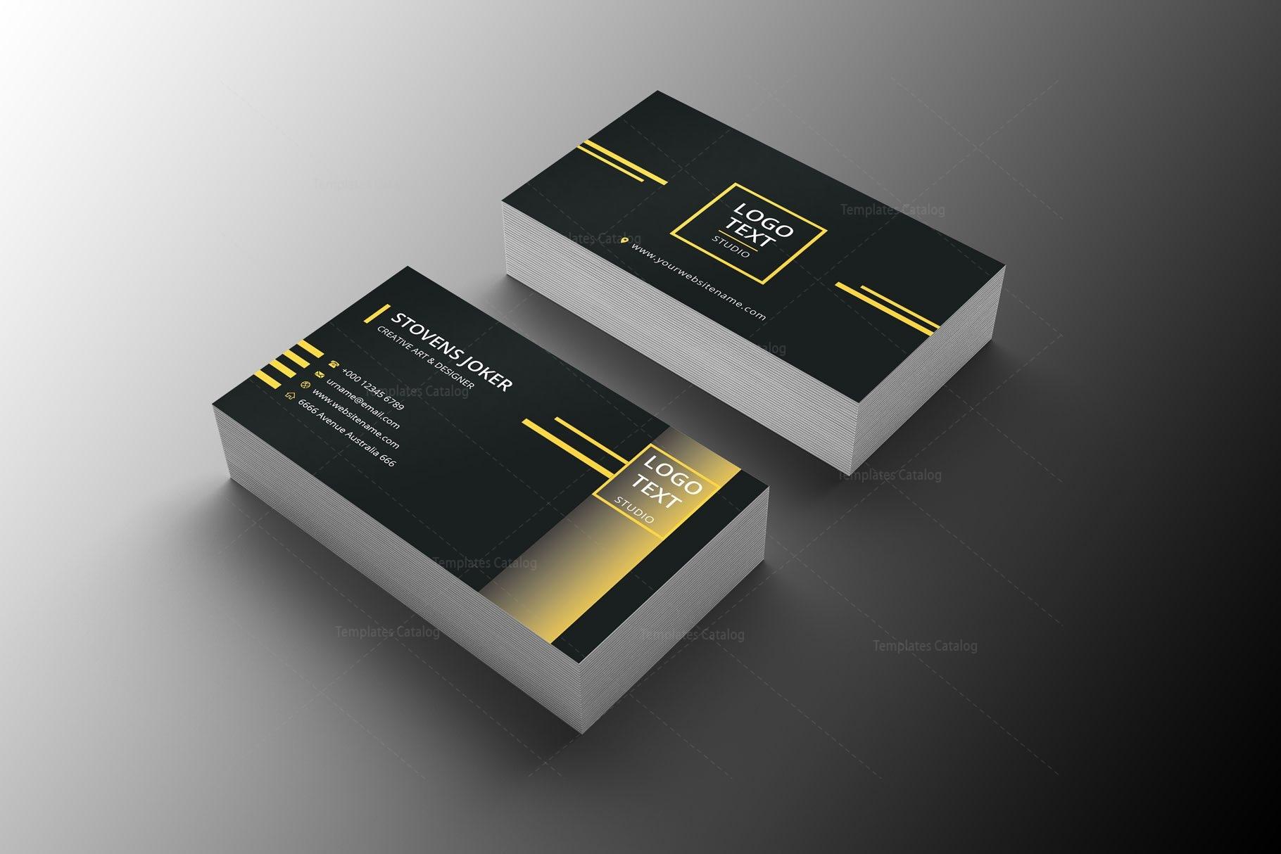 minimal programmer business card design 002246 template catalog