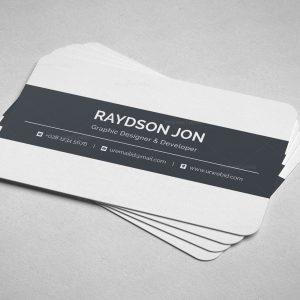 Corporate business card design archives template catalog minimal retail business card design colourmoves