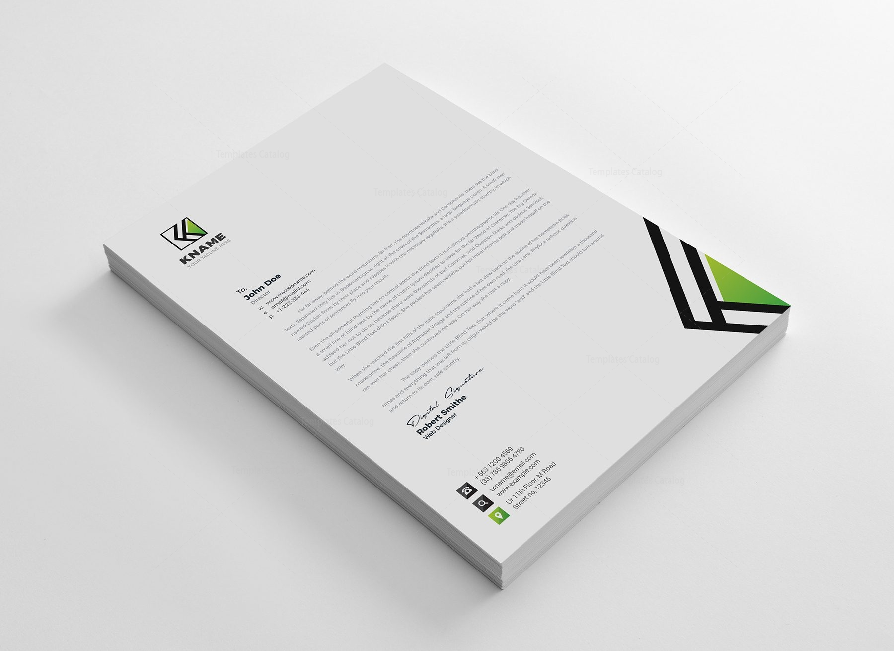 Name corporate letterhead design template 002161 template catalog name corporate letterhead design templates 2 spiritdancerdesigns Image collections