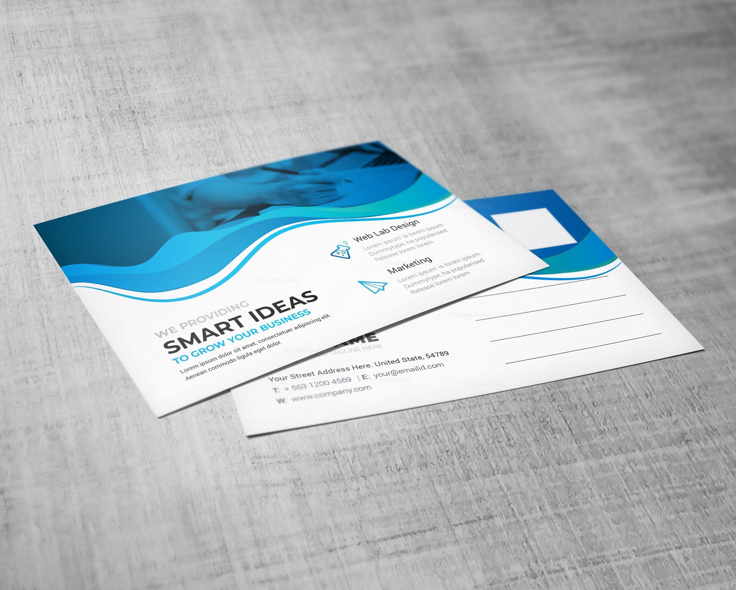 ocean professional postcard design template 002200 template catalog