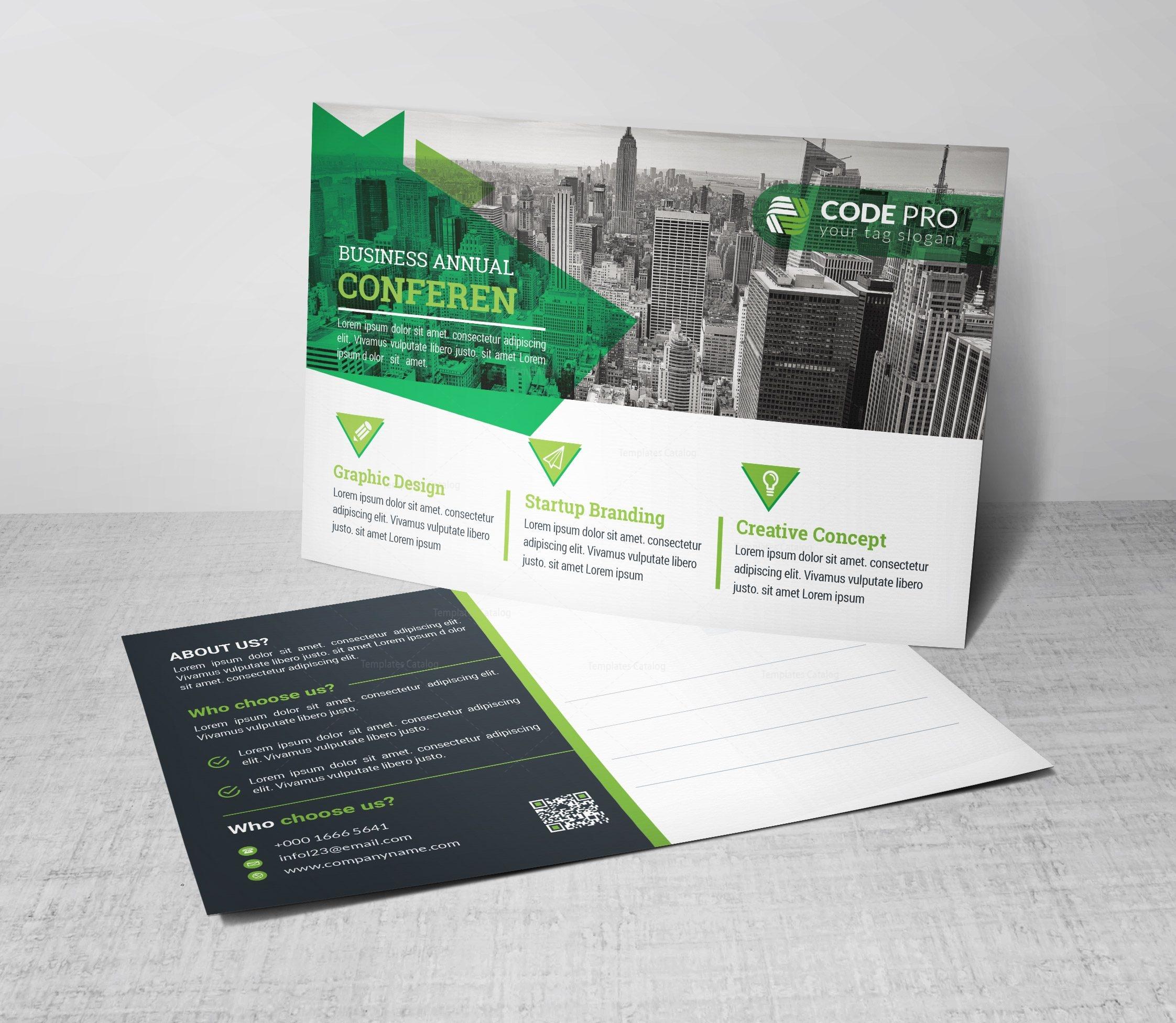 psd corporate postcard design template 002260 template catalog. Black Bedroom Furniture Sets. Home Design Ideas