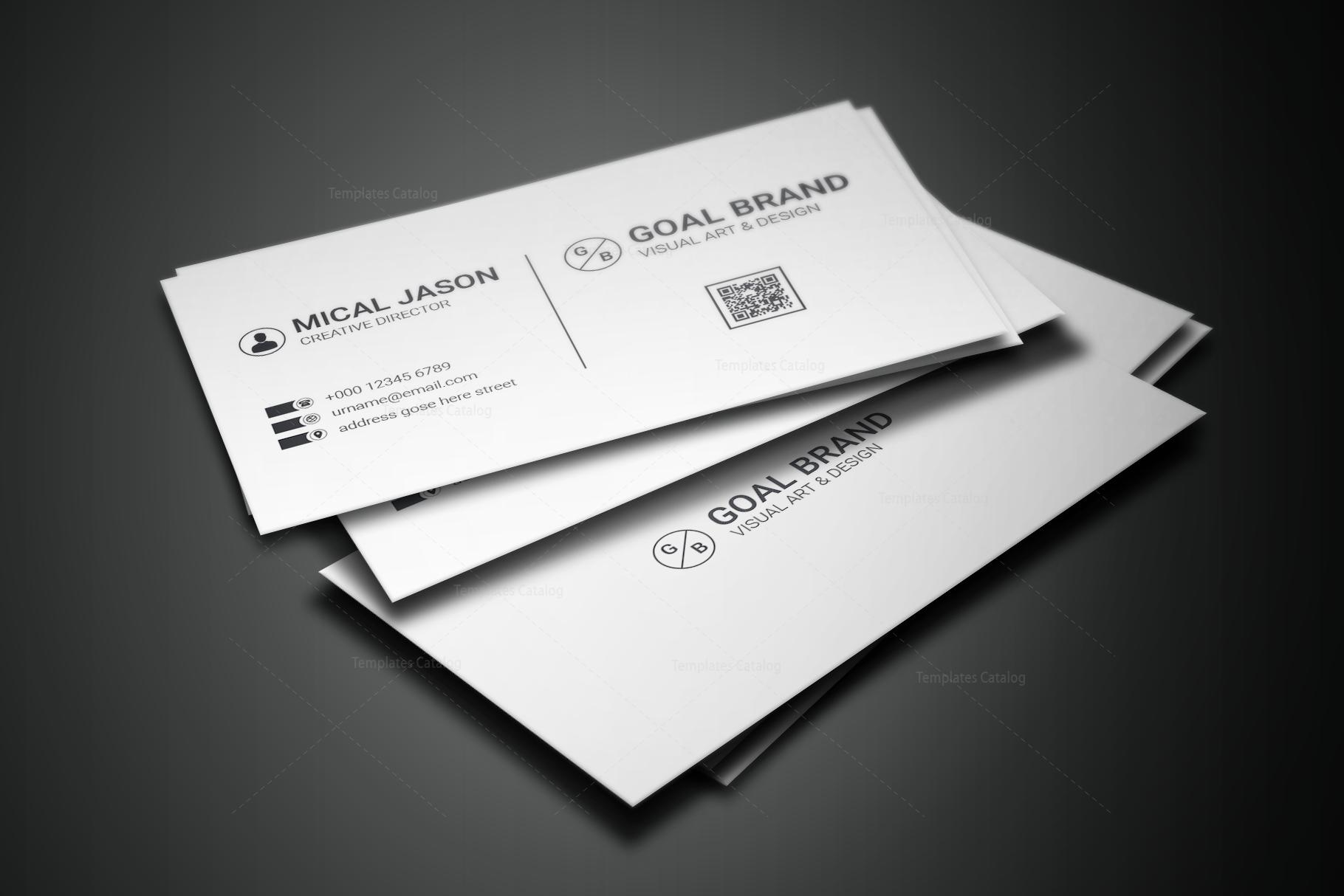 Simple Creative Business Card Design 001664 - Template Catalog