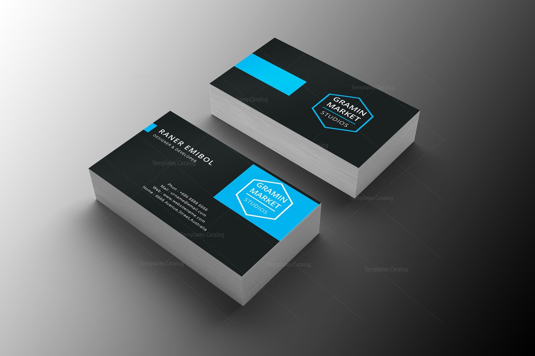 stylish manager business card design - Business Card Manager