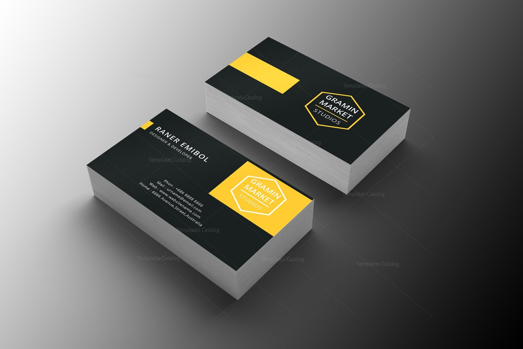 Stylish manager business card design 002254 template catalog stylish manager business card design 2 cheaphphosting Gallery