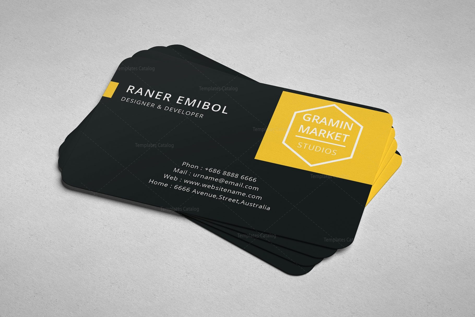 Stylish manager business card design 002254 template catalog stylish manager business card design colourmoves