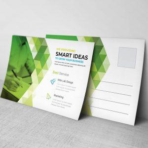 Vector Professional Postcard Design Template
